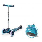 Trikolesni skiro Smart Trike Hulajnoga T3 + led kolesa + Torba modra 2+ - Mint
