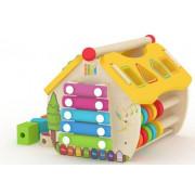 Aktivnostna lesena hiška Smily Play AC6622