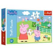 Trefl Puzzle 60 el Zabawy W Gronie Przyjaciół Peppa
