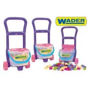 Voziček z kockami WADER 10973 80 elementov