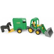 Traktor z prikolico in konjem Wader Farmer - 38,5 x 15,0 x 13,0 cm