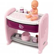 Otroška posteljica 2v1 za previjalno mizo za lutke + lutka- 220353 - Smoby
