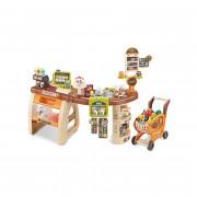 Trgovina in voziček Supermarket -  Blagajna Premični elementi + 65 dodatkov. - 29818 - Woopie