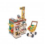 Trgovina WOOPIE Supermarket z optičnim bralnikom kase za uteži vozičkov + 48 dodatkov. - 29986 - Woopie