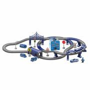 Električna železnica Car track Policijska postaja + Helikopter 92 el. - 30685 - Woopie