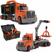 Tovornjak z Nakladalno roko 3v1 Black+Decker + dodatki 60 . - 360175 - Smoby