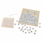 Lesena učna matematična tabla in abeceda s 100 elementi -  44510 - Viga Toys