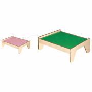 Lesena otroška miza za čakalno vrsto in kocke - 50284 - Viga Toys