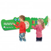 Tabla za senzorično izobraževalno manipulacijo Krokodil - 50346 - Viga Toys