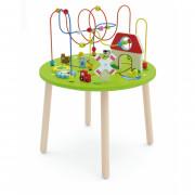 Lesena izobraževalna velika miza Farma Rollercoaster - 50670 - Viga Toys