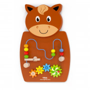 Lesena igra s tkanjem in zobniki Konj  Viga Toys - 50678 - Viga Toys