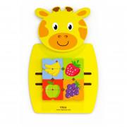 Lesena senzorična manipulacijska deska Žirafa Viga Toys - 50680 - Viga Toys