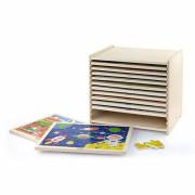 Lesene uganke 12 ugank po 24 ugank na stojalu Viga Toys - 51428 - Viga Toys