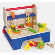 Lesena delavnica tesarja DIY z orodji - 59869 - Viga Toys
