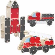 Ogromen leseni gradbeni blok vozil  - CW53504 - Classic World