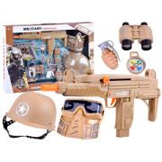 Komplet za vojaka pištola + obleka z dodatki -36150-ZA3456