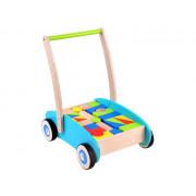 Leseni potiskalnik - sprehajalnik z kockami -TL00057-ZA3724