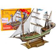 Puzzle 3D Mistična pomorska ladja 129ele -Z-T013S-ZA3790