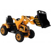 Električni Traktor na akumulator z nakladalko - LeanToys - 12V - 3405 - Oranžen