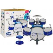 Set bobnov z mikrofonom na tipkovnici in stolom Blue 5 bobnov-4884