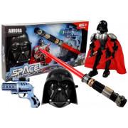 Vesoljski bojevnik s svetlobno pištolo + meč + maska-5083