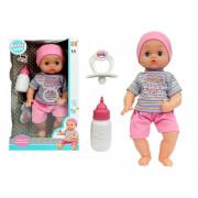 Otroška punčka z dudo in stekleničko za mleko 38 cm -5370