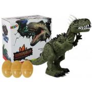 Zeleni Dinozaver z jajci na baterije - Premika se z zvočnim projektorjem  -7231
