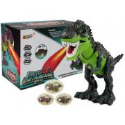 Dinozaver, ki deluje na baterije, odlaga jajca, diha ogenj, voda, para, zelen -7740