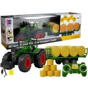 Velik traktor s prikolico 80 cm + bale s senom 2,4 G na daljinsko upravljanje  -8392