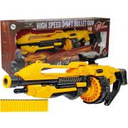 Baterijska pištola 82 cm Penaste kartuše, vrtljive, rumene  -8455
