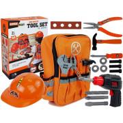 Nahrbtnik z orodji za DIY navdušence Akumulatorski vrtalnik, žaga, čelada -8470