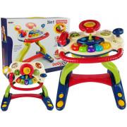 Interaktivna miza za dojenčka Hojica z Volanom 3 v 1 + melodije zvoki živali -8492