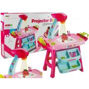 Izobraževalna mizica z projektorjem in dodatki - Roza-Modra -8531