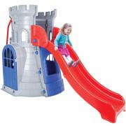 Stolp s toboganom. Grad. Hiša. Otroško igrišče - 30982 - Woopie