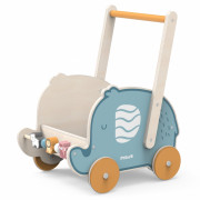 Leseni voziček Viga PolarB 2v1 Sprehajalnik  Slonček - 44031 - Viga igrače