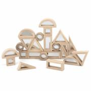 Leseni zrcalne kocke sestavljanka 24 elementov- 44562 - Viga Toys