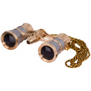 Levenhuk Broadway 325F Opera Glasses (silver, with LED light and chain) - 17781