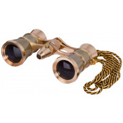 Levenhuk Broadway 325F Opera Glasses (gold, with LED light and chain) - 28818