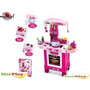 Otroška kuhinja - roza z veliko dodatki -107187