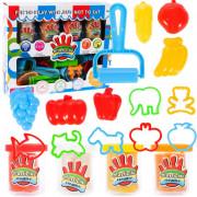 Plastična masa 4 skodelice + sadje in živali - 107297