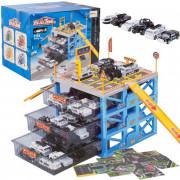Parkirišče za avtomobile + 6 kovinskih avtomobilov - 107707