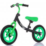 """Rowerek biegowy z dzwonkiem EVA 12\"""" czarn-ziel-108116"""
