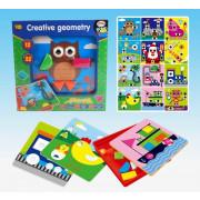 Puzzle kreatywne Kształty Figury geometryczne-108542