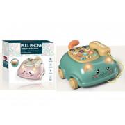 Otroški telefon na kolesih green kitty-108760