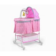 Zibelka z daljincem Milly Mally Kołyska  Pink - 5901761125023