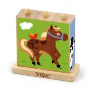 VIGA 50833 LOGIČNE KOCKE-KMETIJA  - 6934510508333