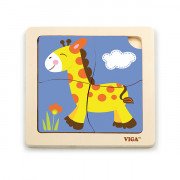 Viga 51319 Puzzle na podkładce - Żyrafa - 6934510513191