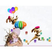Stenske Nalepke za Otroke - Zajček HOP - ZY1408 - 25x70cm