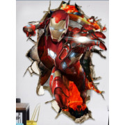 Stenske Nalepke za Otroke - Iron Man - D136 - 60x90 cm