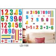Stenske Nalepke za Otroke - Številke - LD1198 - 45x60cm